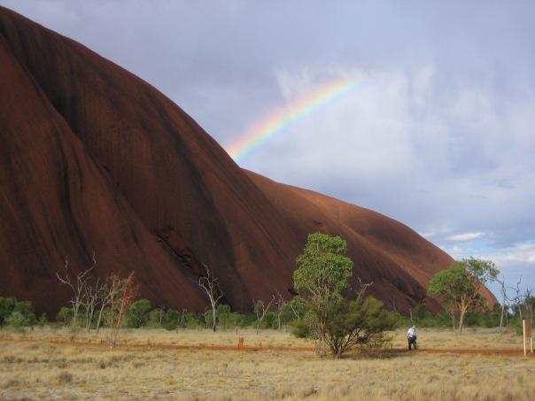 Ayers Rock Rainbow, Australia.