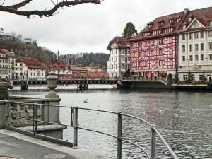 Advent Calendar on the Lake, Lucerne.