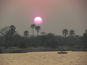 Sunset on the Zambezi.