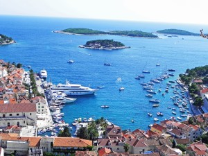 Hvar Town as seen from the Fortress.