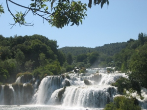 Some of the many falls at Krka National Park.