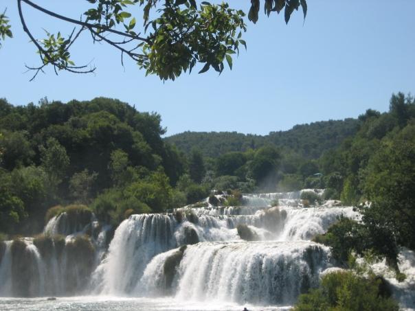Some of the many falls at Krka National Park, Croatia.