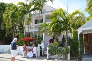 Typical house featured on the Key West historic home tour.