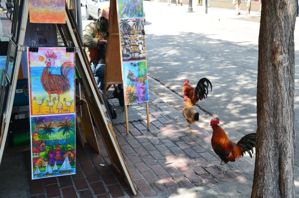 Art imitating life ~ Duval Street, Key West.