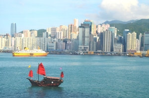 "The iconic Chinese ""Junk"" now just for Hong Kong tourists."