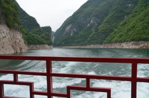 Beautiful, rural countryside and dramatic views on the Yangtze tributary, Shennong.