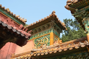 Intricate art and gorgeous colors in the Forbidden City.