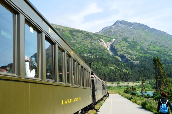 The historic White Pass & Yukon Route train.