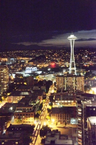 Seattle and its iconic Space Needle.