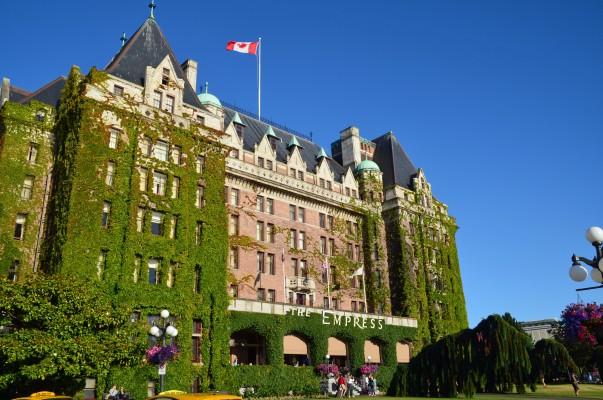 The regal Fairmont Empress Hotel.