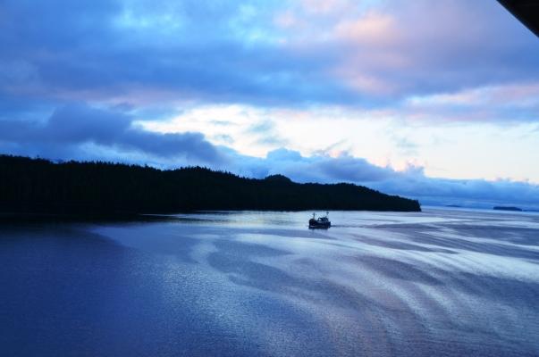 Dawn in Ketchikan, Alaska.