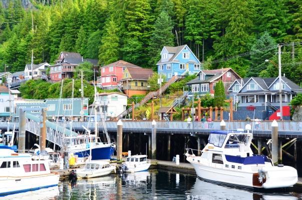 View from the ship: Ketchikan, Alaska.