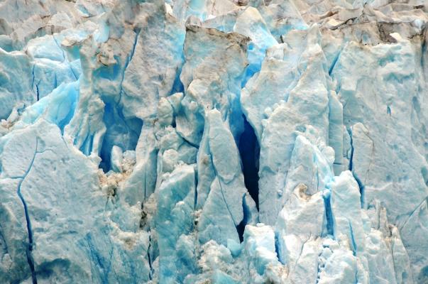 Blue ice at the North Sawyer Glacier.