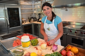Cookbook author and instructor Jill Dahan in the kitchen at Little Pond Farm.