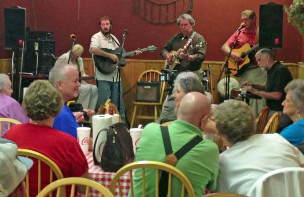 Enjoying some bluegrass and gospel with Tennessee group Rambling Rose at Carolina Barbeque in Newland.  Best smoked chicken, fried chicken fingers and pecan cobbler anywhere!