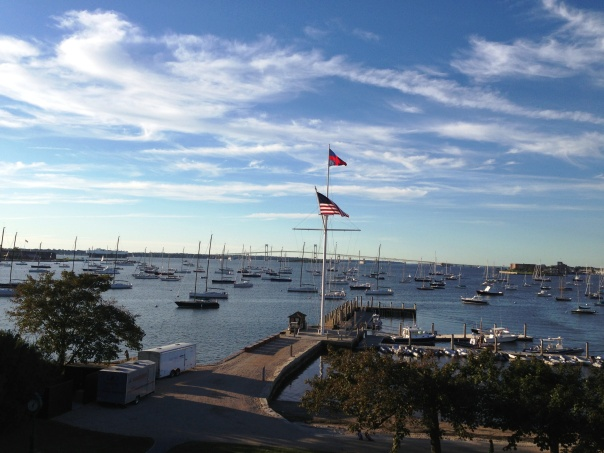 View from Harbour Court, the New York Yacht Club's majestic Newport station.