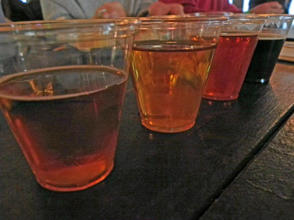 Beer tasting at Schnebly Redland's Winery: Big Rod Coconut Ale was my favorite.