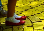 A visiting Dorothy, is ready to set off on the Yellow Brick road.