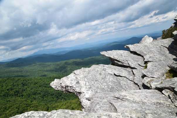 The summit of Hawksbill Mountain, at 4,009' rewards hikers with incredible panoramic views of Linville Gorge.