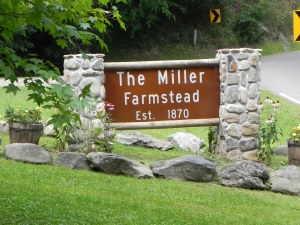 Entrance to The Miller Farmstead property, home to multi-generations of a hardworking mountain farming family.