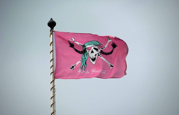 For my pirate girlfriends - just had to post this flag, seen along the Alster lakeshore at one of the many small marina/bistros.