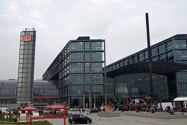 The Berlin Hauptbahnhof (Train Station), where we arrived from Hamburg, after a nice 90 minute trip. Be sure to get off at the right Berlin station - HBF!