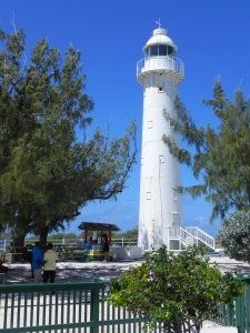 Built in London and erected in Grand Turk in 1852, the 60' high lighthouse protected ships in the salt trade from the island's surrounding reefs.