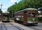 St. Charles Avenue Streetcar Line, a National Historic Landmark, the oldest continually running streetcar in the world.