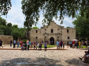 The Alamo, originally the Mission San Antonio de Valero, was constructed on this site beginning in 1724.  The famous 13-day battle that took the lives of James Bowie and David Crockett took place in 1836.