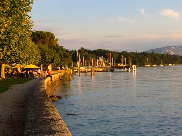 In Hermance, on the beautiful Lake Geneva.