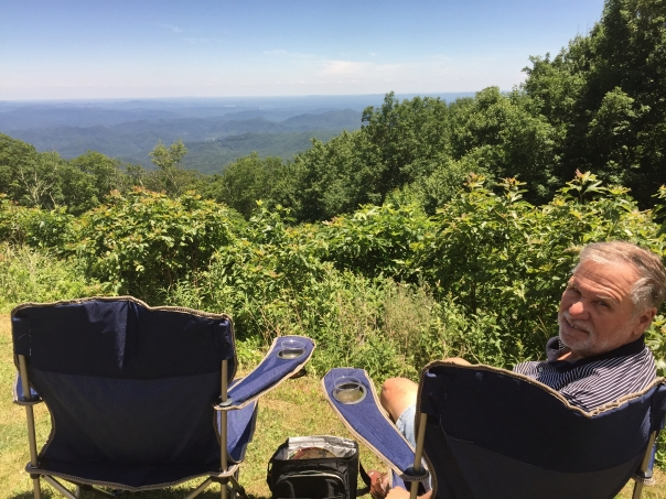 Picnicking on the Blue Ridge.