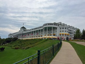 The historic Grand Hotel, sporting the world's longest porch.