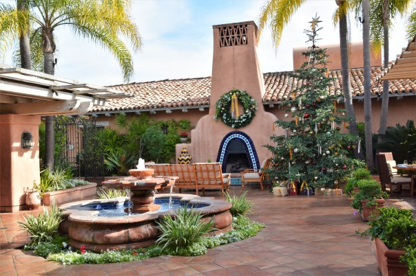 The lovely Rancho Valencia Resort.