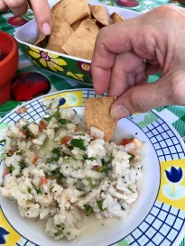 Delicious ceviche on Mexican Foor Tour..
