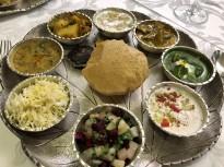 An Indian feast at the Brijrama Palace, Varanasi.