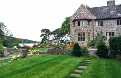 Beautiful grounds at Ard na Sidhe Country House on Caragh Lake in Ireland.
