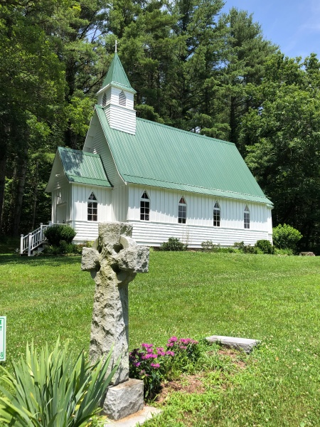 St John's Episcopal Church near Valle Crucis, NC.