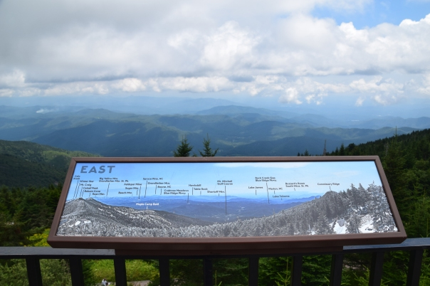 Observation deck at the summit of Mount Mitchell State Park