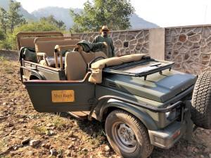 Ready to safari at Sher Bagh, Ranthambore National Park, India.