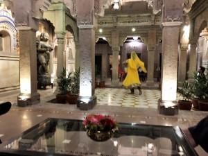 Evening entertainment at the Brijrama Palace, Varanasi India.