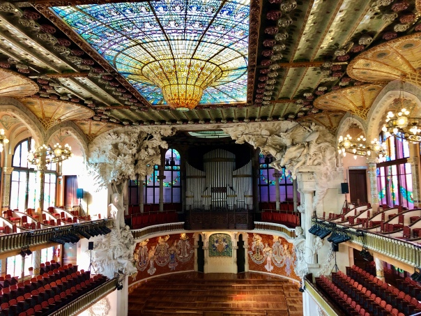 Barcelona's iconic El Palau de la Música Catalana.