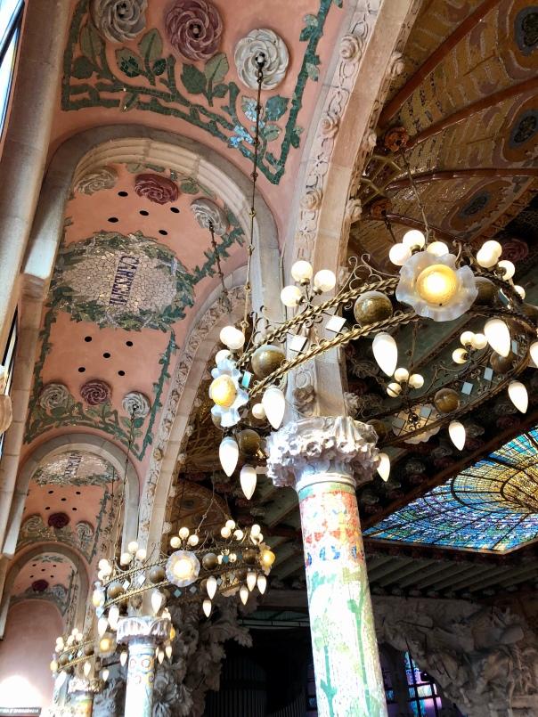 Details at Barcelona's iconic El Palau de la Música Catalana.